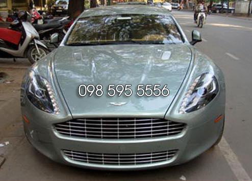 thuê xe cưới Aston Martin rapide màu xanh ngọc