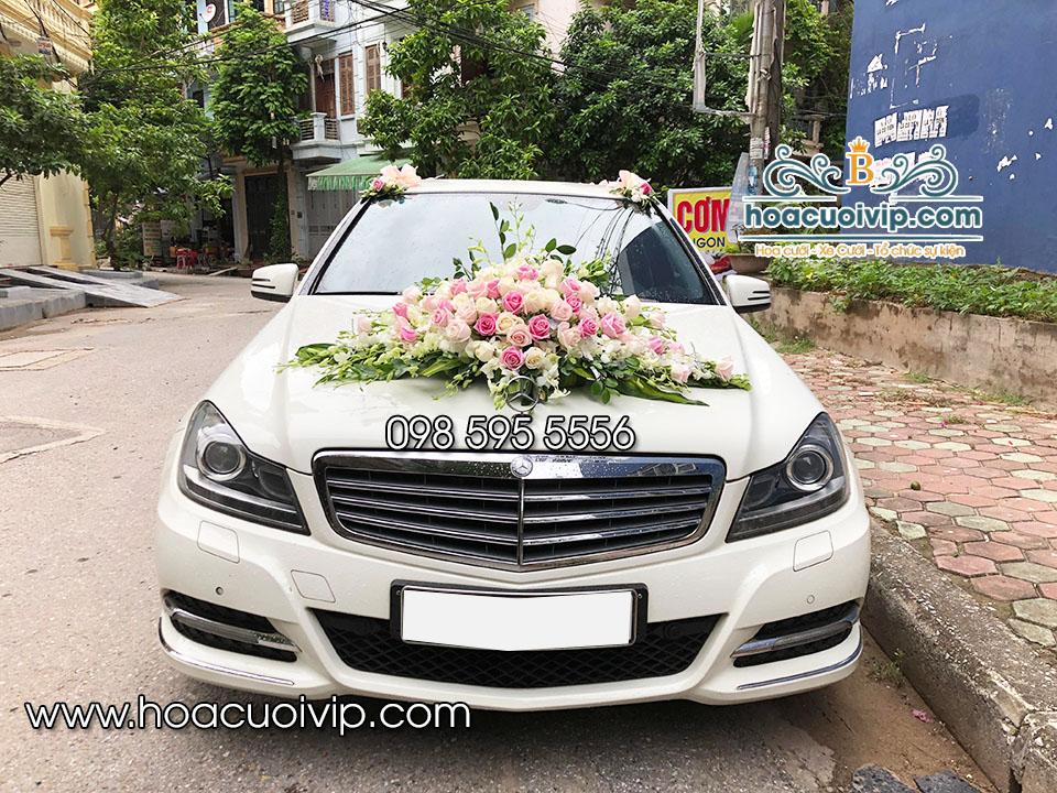 thuê xe cưới mercedes C300 2014 màu trắng