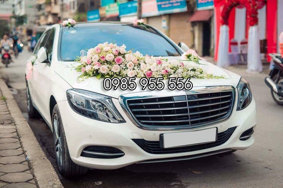 thuê xe cưới mercedes S400 2016 màu trắng