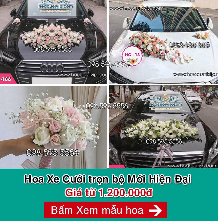 hoa xe cưới mẫu hiện đại