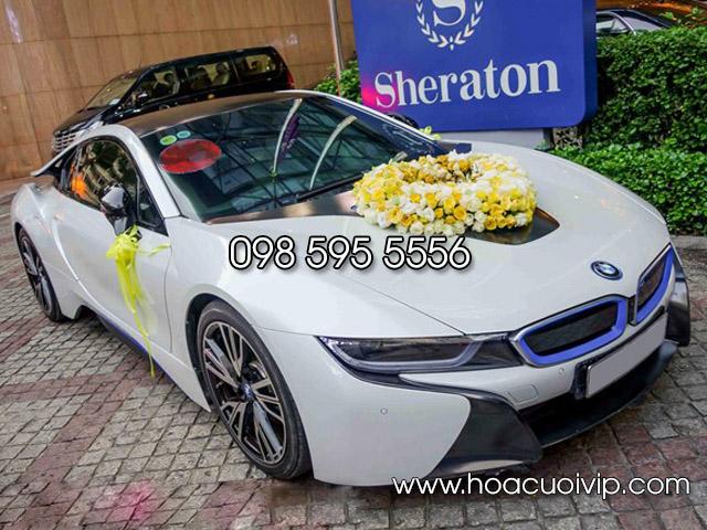 thuê xe cưới BMW i8 màu trắng