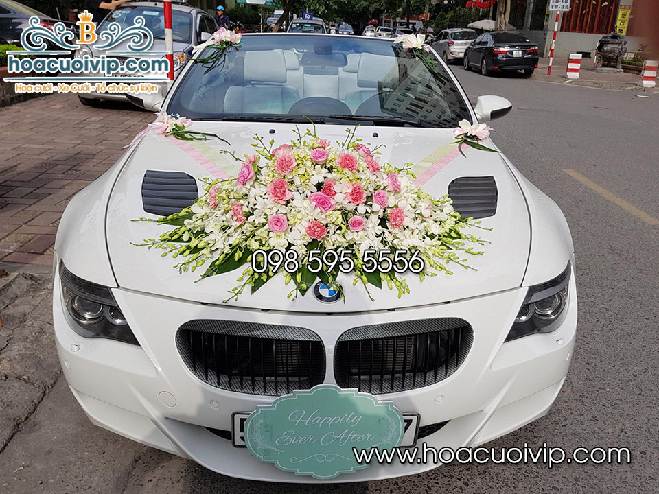 thuê xe cưới bmw M6 mui trần màu trắng
