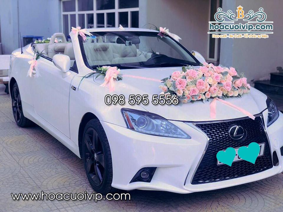 thuê xe cưới lexus is250 2017 màu trắng