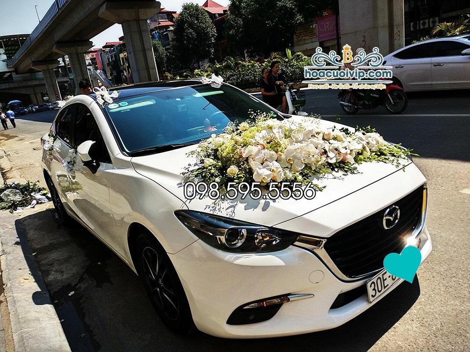 thuê xe cưới mazda 6 2017 màu trắng