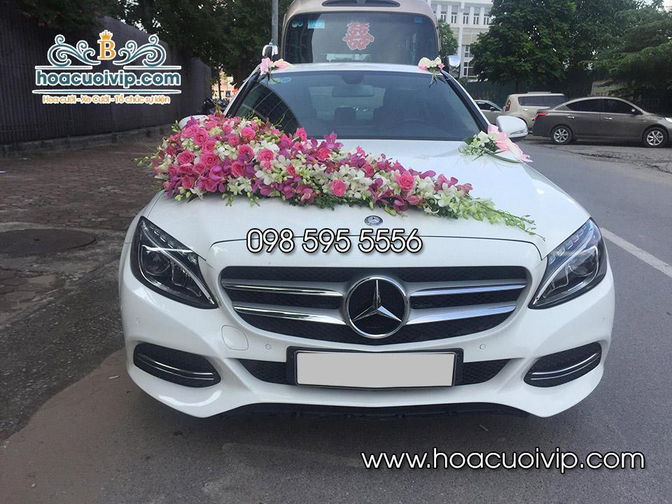 thuê xe cưới mercedes C250 2017 màu trắng